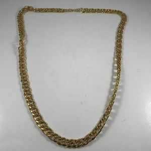 Vintage Gold Tone Chain Necklace, Vintage Jewelry